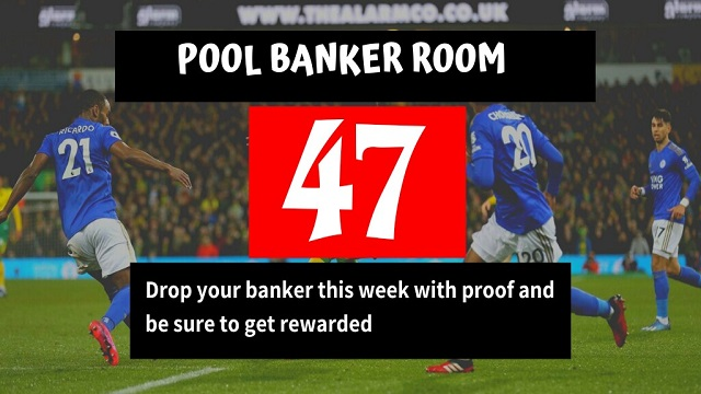 Week 47 Pool Banker Room 2020