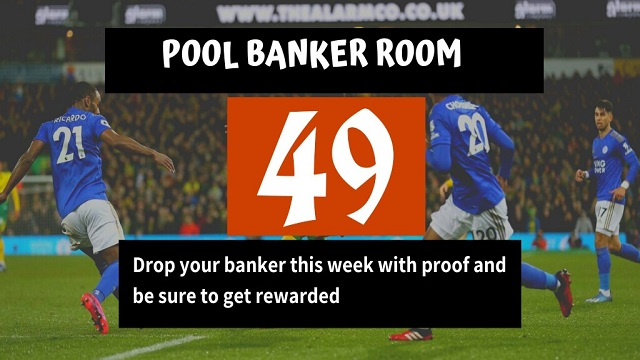 Week 49 Pool Banker Room 2020