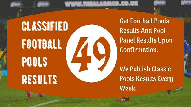 Week 49 Pool Result 2020