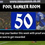 Pool Draw This Week 50; Banker Room 2020 – Pls Prove Your Best Banker, Pair or Winning Line Here