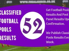 Week 52 Pool Result 2020: Classified Football Pools Results for Sat 4 July 2020