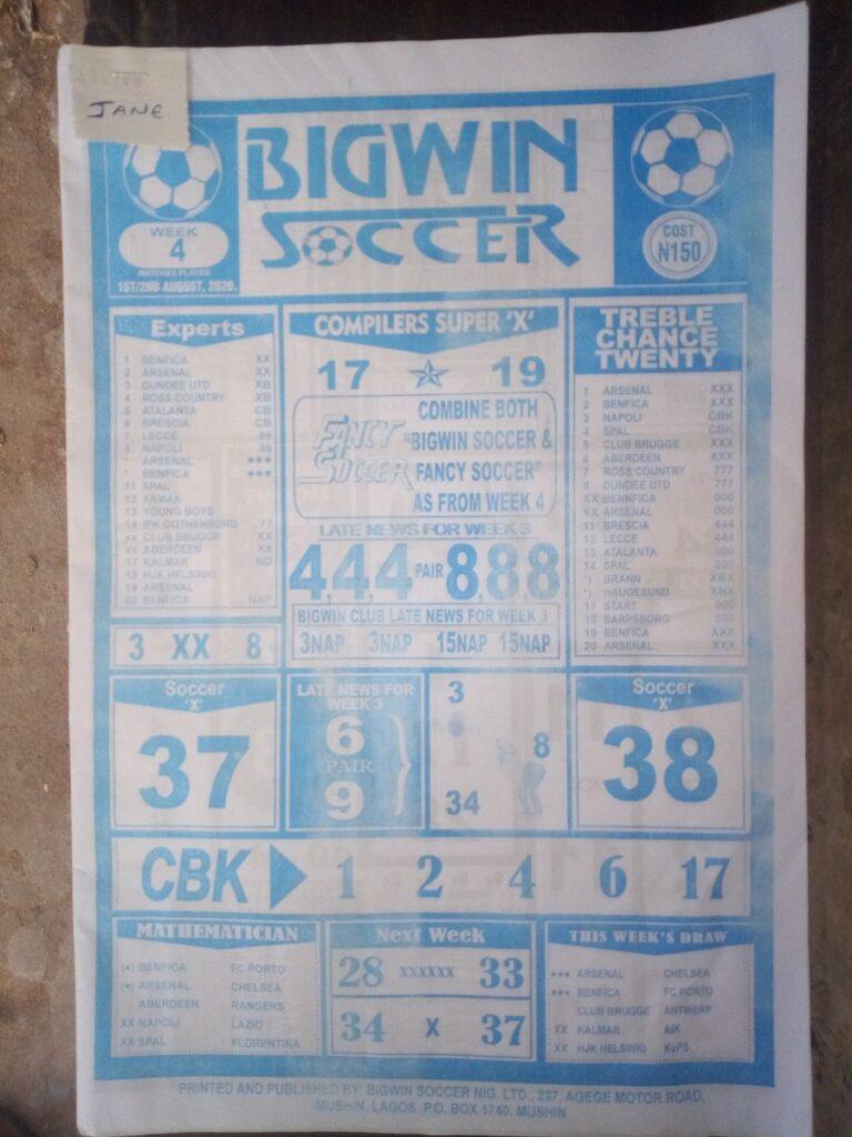 Week 4 Bigwin Soccer Page 1
