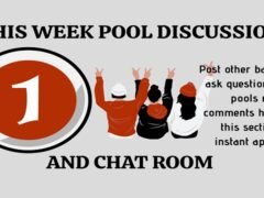 Week 1 Pools Discussion Room 2020: Post Other Bankers, Winning Line and Ask Questions