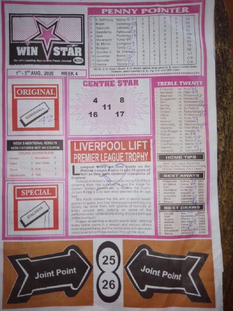 Week 4 Winstar Page 1 2020