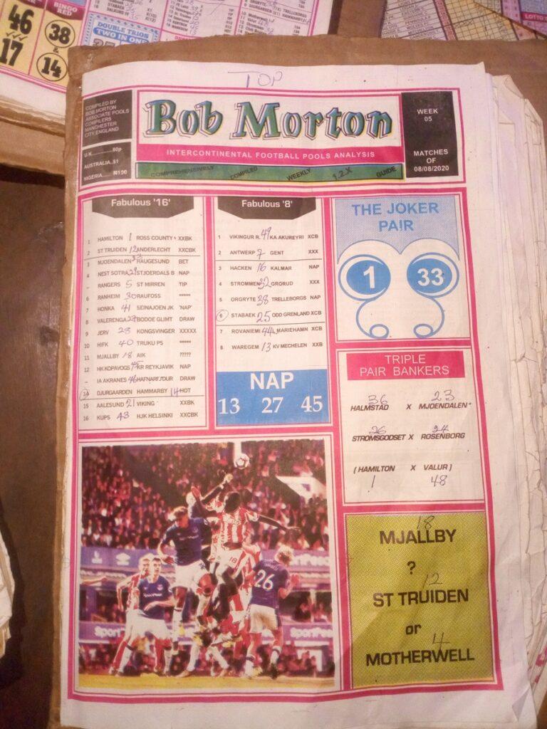 Week 5 Bob Morton 2020 Page 1