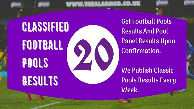 Week 20 Pool Result 2020