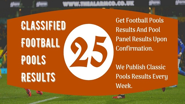Week 25 Pool Result 2020