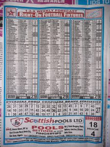Week 29 Right On Fixtures 2021 Back Page