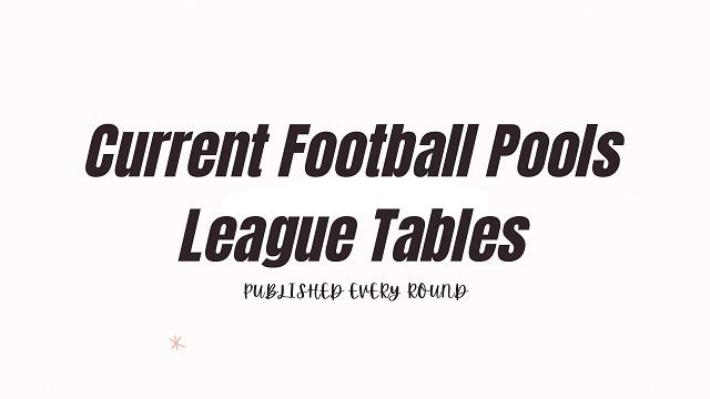 Week 31 League Tables 2021