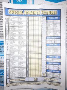 week 34 special advance fixtures 2021