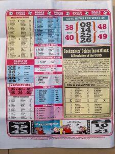 week 40 pools telegraph page 14
