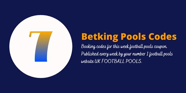 week 7 betking code 2021
