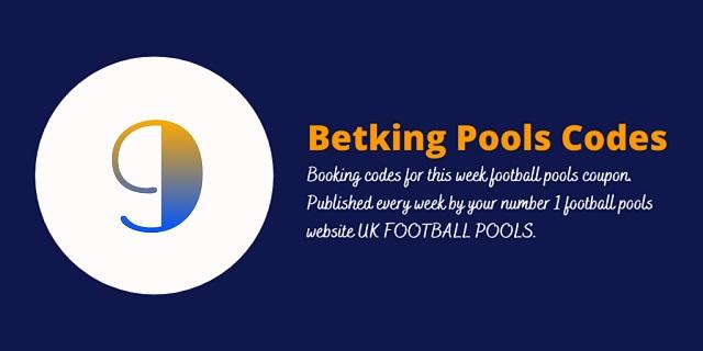 week 9 betking code 2021