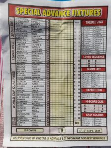 week 9 special advance fixtures 2021
