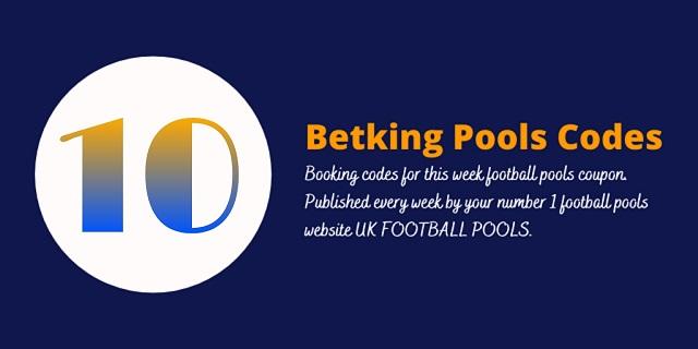 week 10 betking code 2021