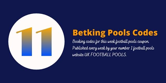 week 11 betking code 2021