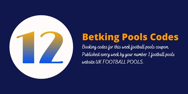 week 12 betking code 2021